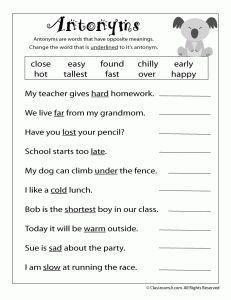 Image Result For English Grade 3 Worksheets Kids Pinterest