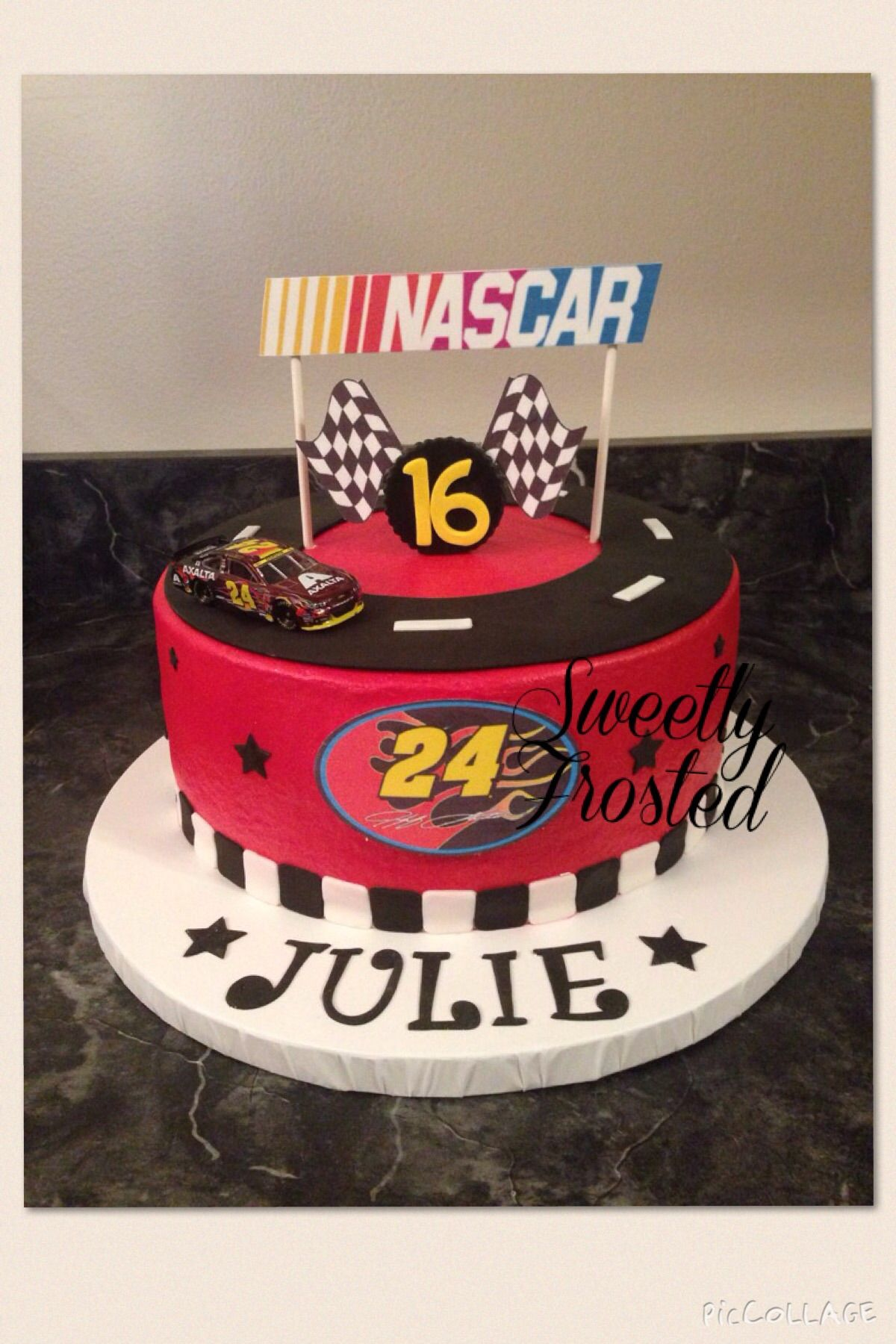 Nascar Birthday Cake Sweetly Frosted Cakes In 2019