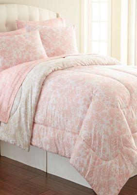 Shavel Men S Micro Flannel Enchantment Rose Comforter Set Multi