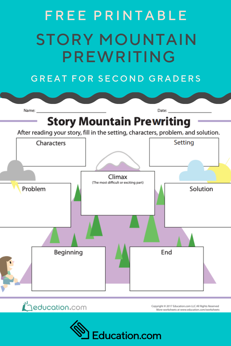 photo relating to Story Mountain Printable known as Tale Mountain Prewriting Creating Products Tale