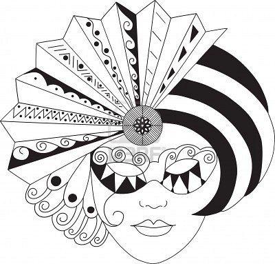 Faschingsmasken Vorlagen black and white faschingsmasken fasching und vorlagen