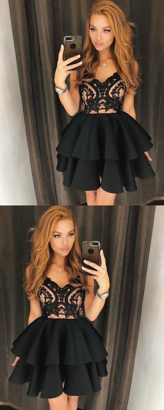 Little black dress cheap homecoming dresses aline short prom dress