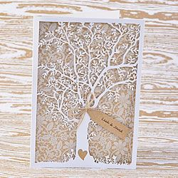 194x135cm Pearlised White Envelope Prosperity Laser cut