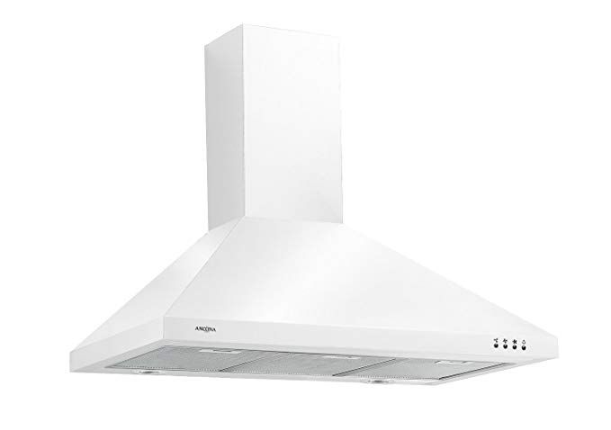 Ancona Wppw436 Wall Mounted Classic Pyramid Style Convertible Range Hood 36 Inch White Wall Mount Range Hood Range Hood