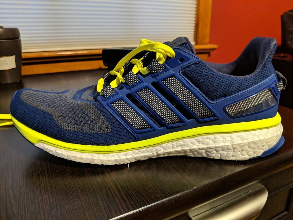 Adidas Energy Boost 3 Mens Size 11 5 Navy Highlighter Green Running Shoes Fashion Clothing Shoes Accessories Mensshoes Shoes Running Shoes Athletic Shoes