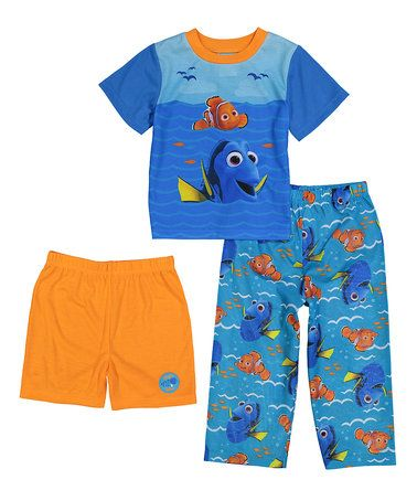 d217c6c88 Another great find on  zulily! Finding Dory Blue   Orange Pajama Set ...