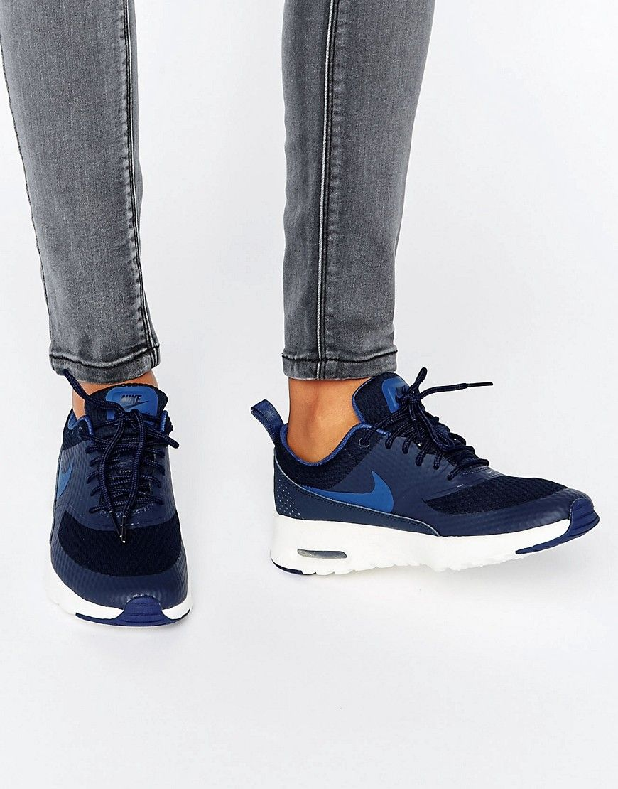 hot sale online 9a5f5 d0fdc Image 1 of Nike Air Max Thea Trainers In Navy