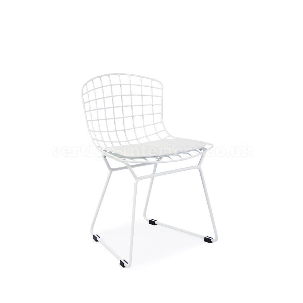 Bertoia chair white - Kids Bertoia Wire Side Chair White Bertoia Chairs Kids Vertigo Interiors