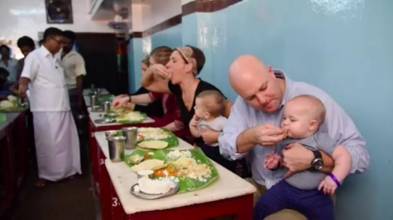 Video: Americans celebrate Madras Day by eating food served on banana leaves