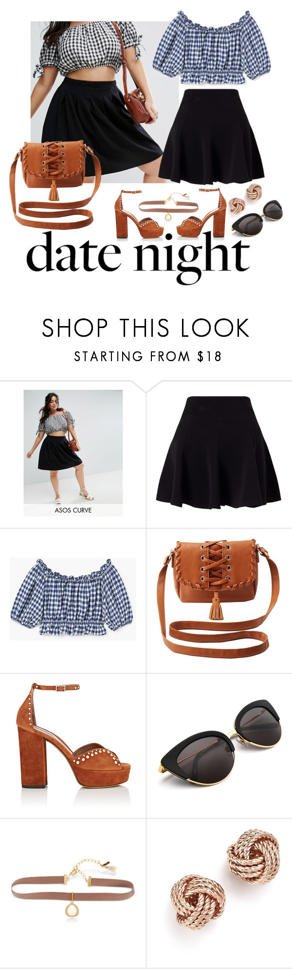 """Smokin' Hot: Summer Date Night"" by thebigtree ❤ liked on Polyvore featuring ASOS Curve, Miss Selfridge, MANGO, Charlotte Russe, Tabitha Simmons, Lonna & Lilly, Bloomingdale's and summerdatenight"