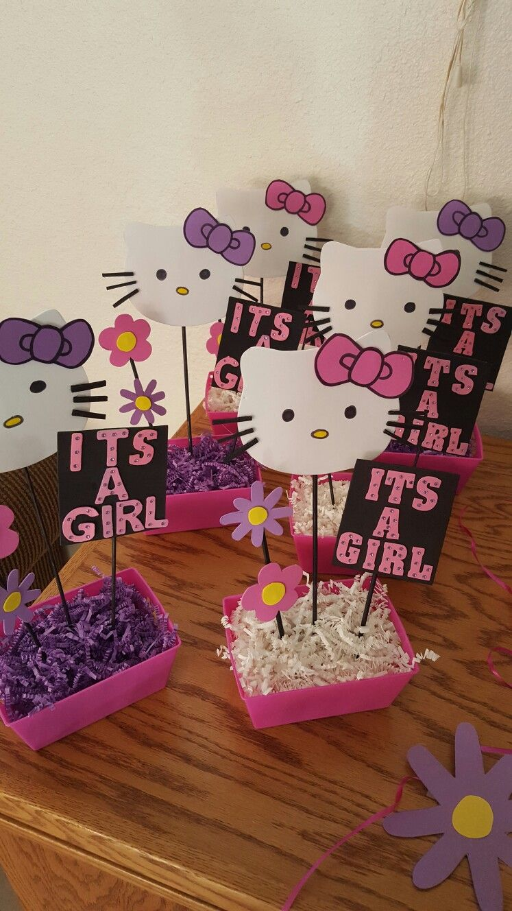 Hello Kitty Baby Shower Decorations : hello, kitty, shower, decorations, Hello, Kitty, Shower, Centerpieces, Shower,, Party,