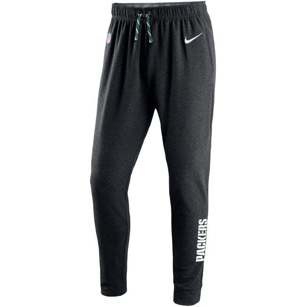 c0e8c3520783 Men s Green Bay Packers Nike Charcoal Touch Fleece Performance Pants ...