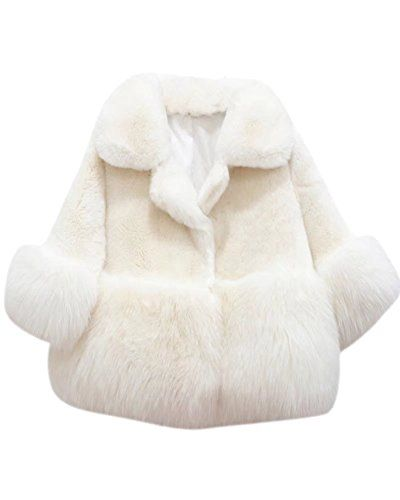 701921b52409 SANGTREE GIRL SANGTREE Girls Winter Faux Fur Plush Outerwear Tops ...