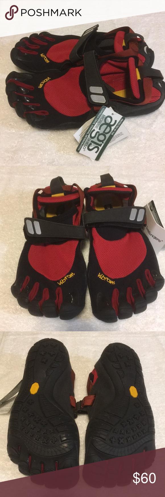 reputable site 9027b 611f8 ... coupon for wholesale vibram fivefingers treksport red black vibram  fivefingers mens treksport red black vibram shoes