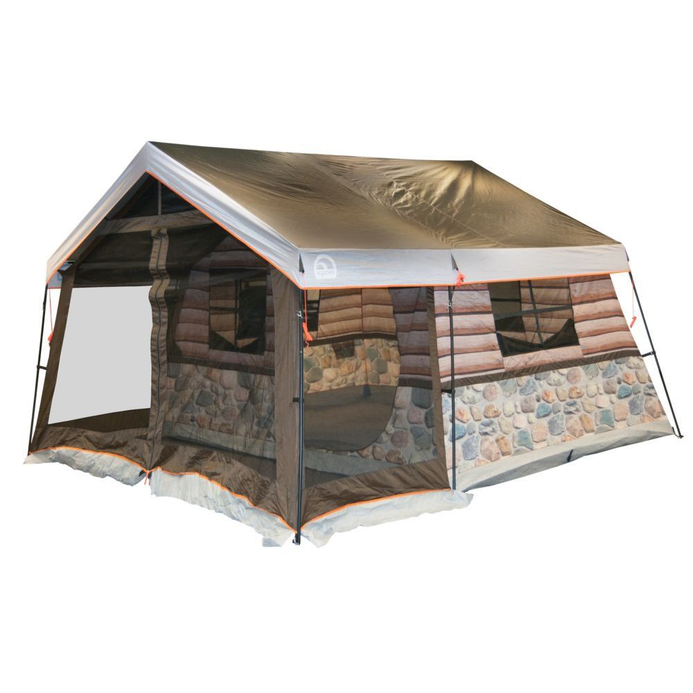 The interior is large enough for eight people and features a screen porch and four windows Igloo log cabin tent -this polyester taffeta cabin tent ...  sc 1 st  Pinterest & Igloo Log Cabin Lodge Tent and Screen Porch u003c3u003c3 our pins?
