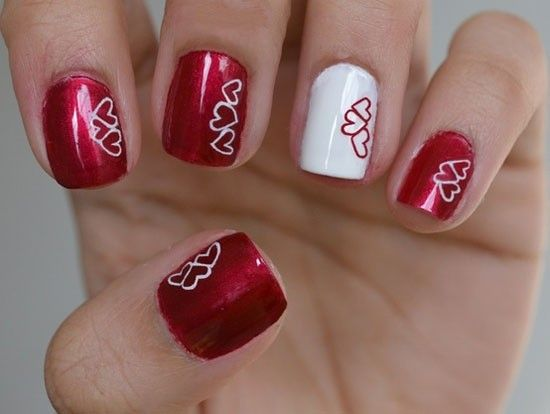 valentines nail designs pictures latest valentines day nail designs - Valentine Design Nails