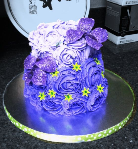 Birthday cake with butterflies... Made by Kiyomi Sakamoto