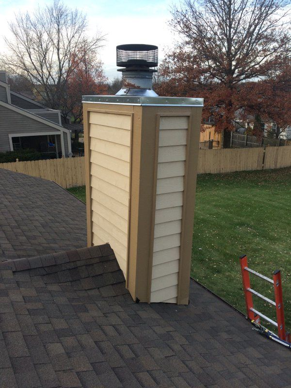 Brand New Cedar Sided Chimney Cricket And Chimney Chase