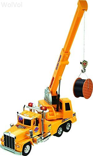electric powered crane truck toy with wired remote controller 8 channel forward backward
