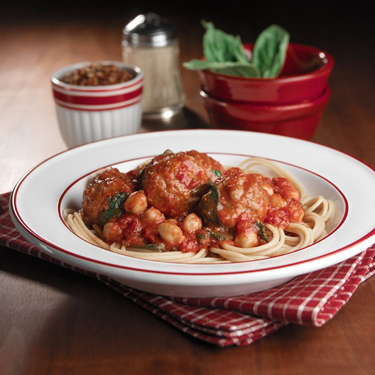 Slow Cooker Spaghetti and Meatballs: A childhood favorite, with an easy time-saving twist!
