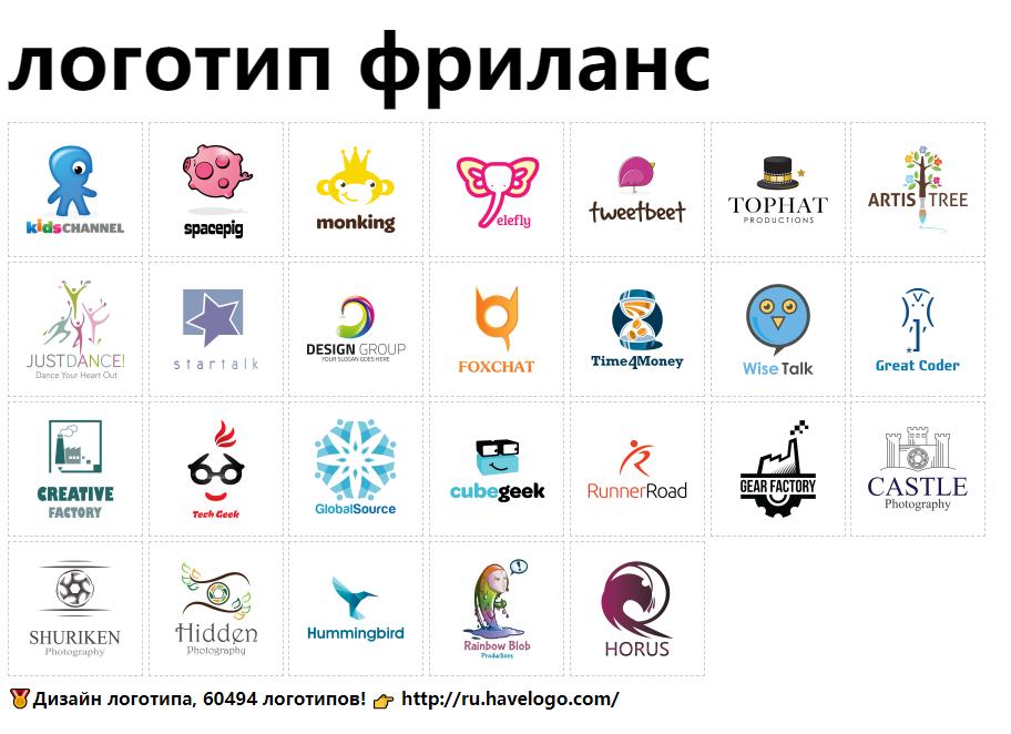 дизайн логотипов фрилансер