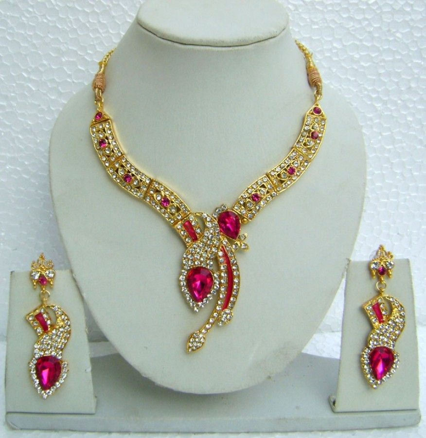 N08395 Designer Artificial Jewellery Necklace Set with Tika ...