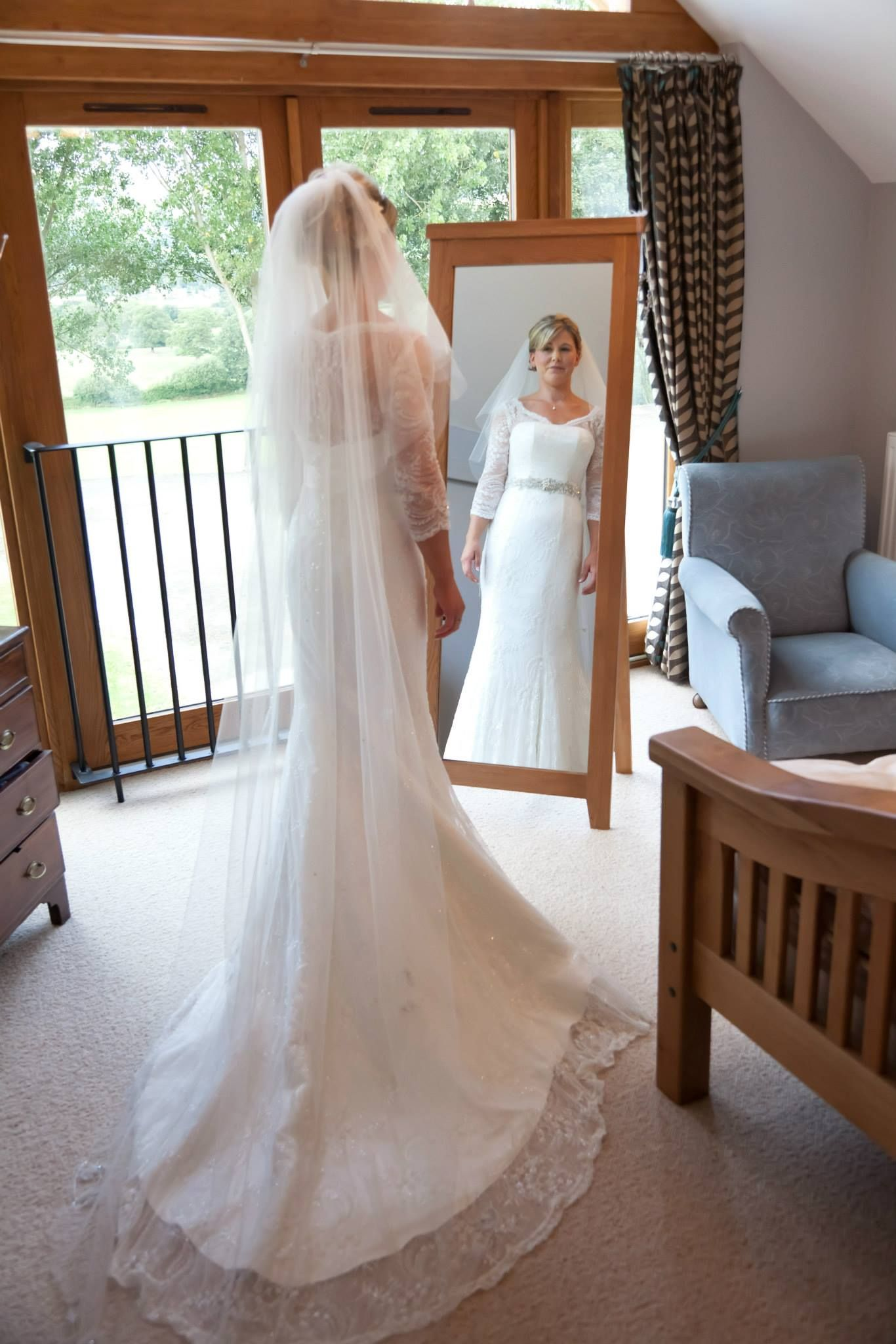 Claire Mischevani Bespoke Wedding Gown Made To Measure Hand Beaded Lace Dress Custom Freshwater Pearl Belt Weddings Bridal Brides