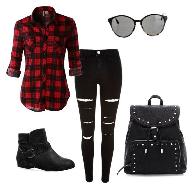 """""""Nouveau Lumberjack"""" by elena-krivitz on Polyvore featuring River Island, LE3NO, Avenue and STELLA McCARTNEY"""