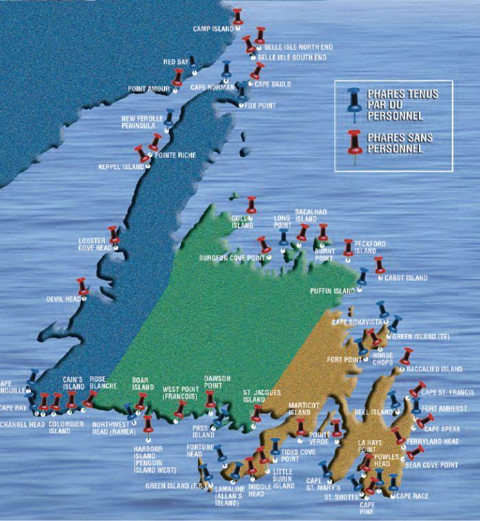 Miraculous Localisation Des Phares De Terre Neuve Et Labrador Interior Design Ideas Ghosoteloinfo