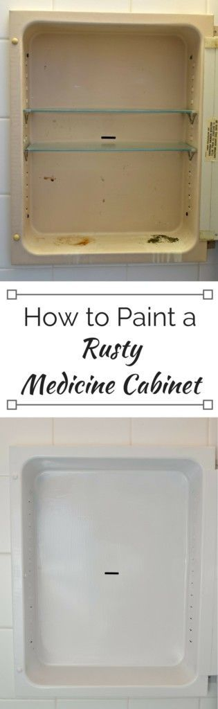 How to Paint a Rusty Medicine Cabinet | Medicine cabinets ...