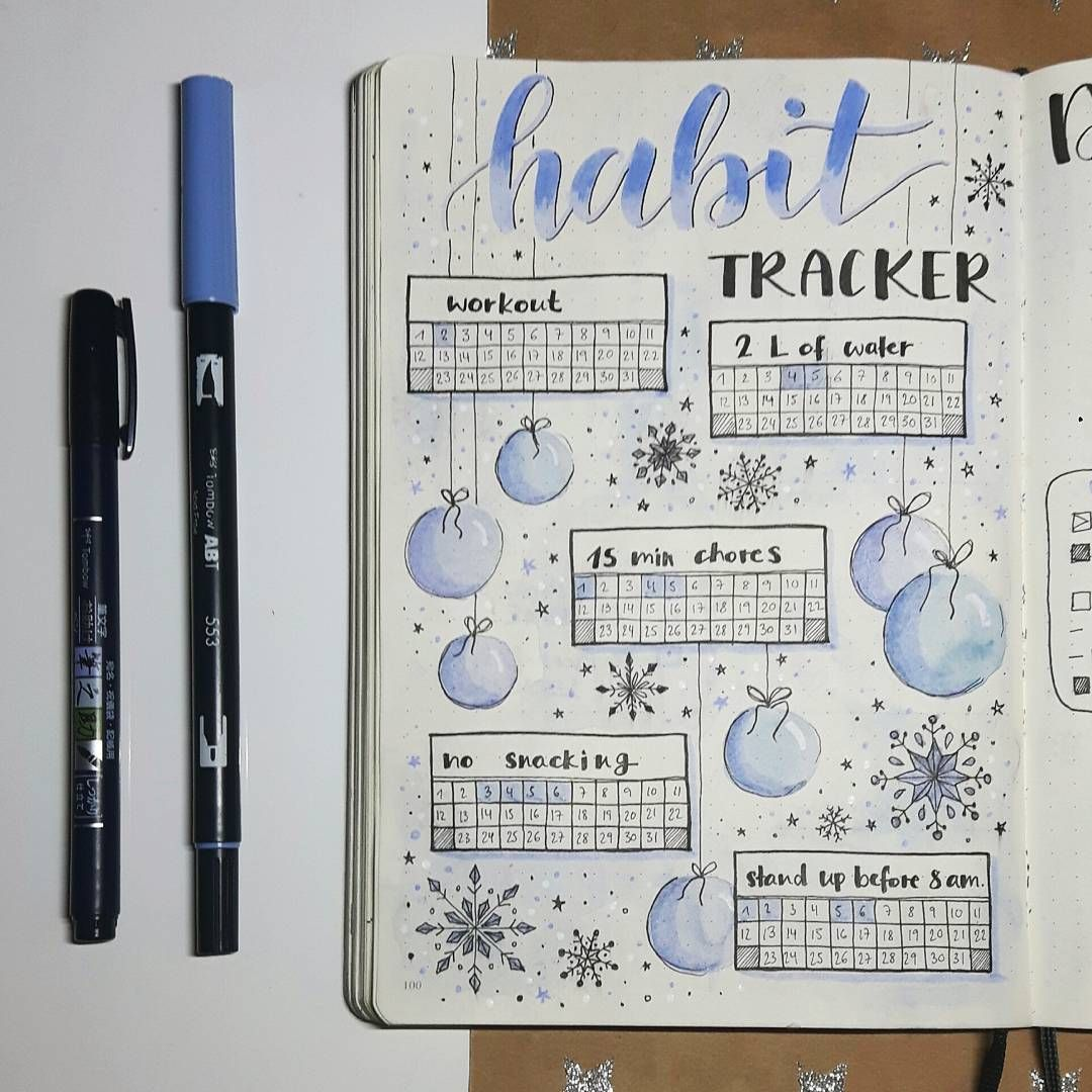 it s a bit late but here s my habit tracker for december i really