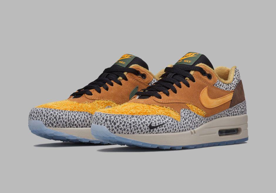 b0b33c1a3f atmos x Nike Air Max 1 Safari 2016 Retro | Wear | Nike air max, Air ...