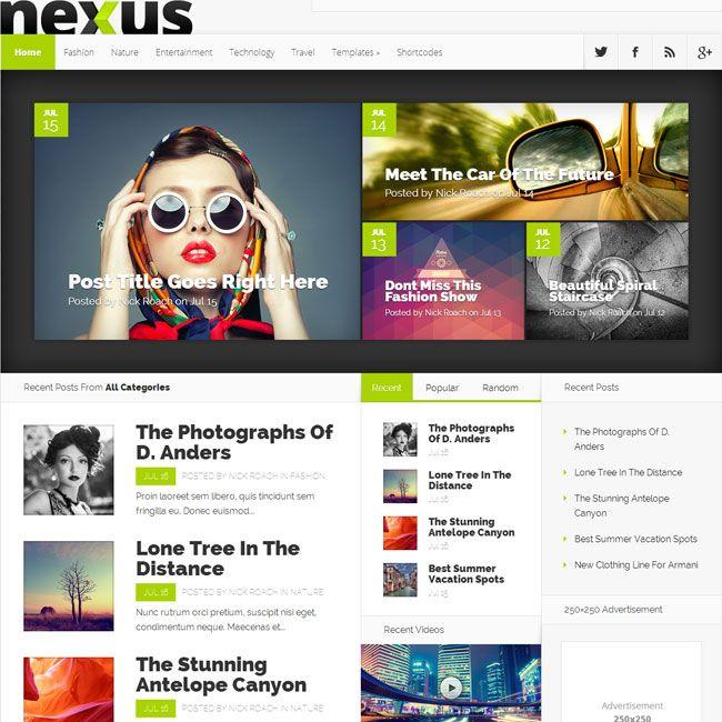 Nexus WordPress Theme by Elegant Themes | Best WordPress Themes 2013 ...