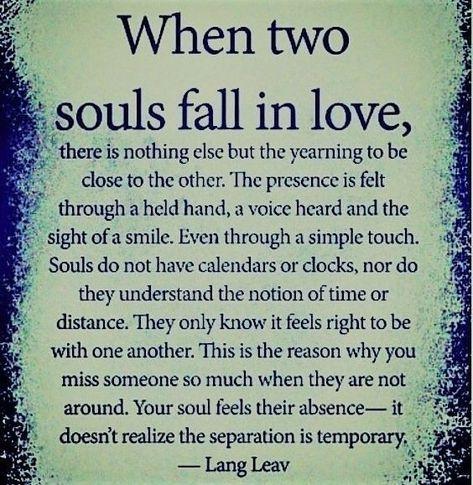 When two souls fall in love