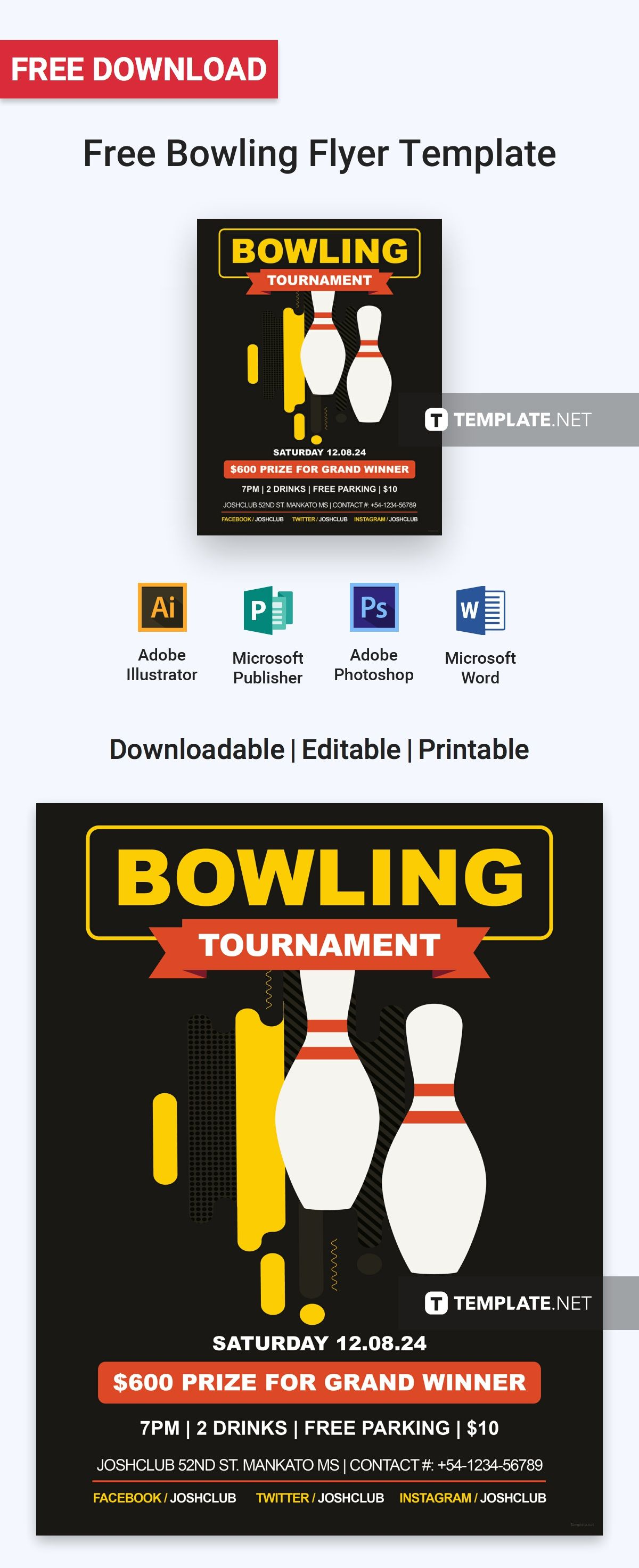Free Bowling Flyer Flyer Template Template And Free Flyer Templates