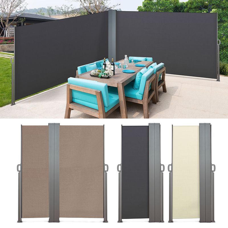 Paravent Double Retractable De Jardin Et Terrasse Aluminium Terrasse Paravent Cabane Jardin
