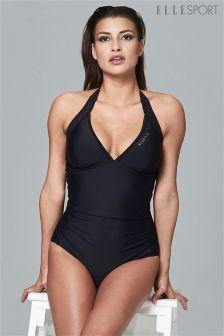 Elle Sport Mesh Detail Tummy Control Swimsuit Swimwear Rn