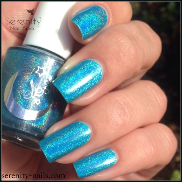 Electric You Collection - Inception is a bright blue based polish with quite a strong holo rainbow through it
