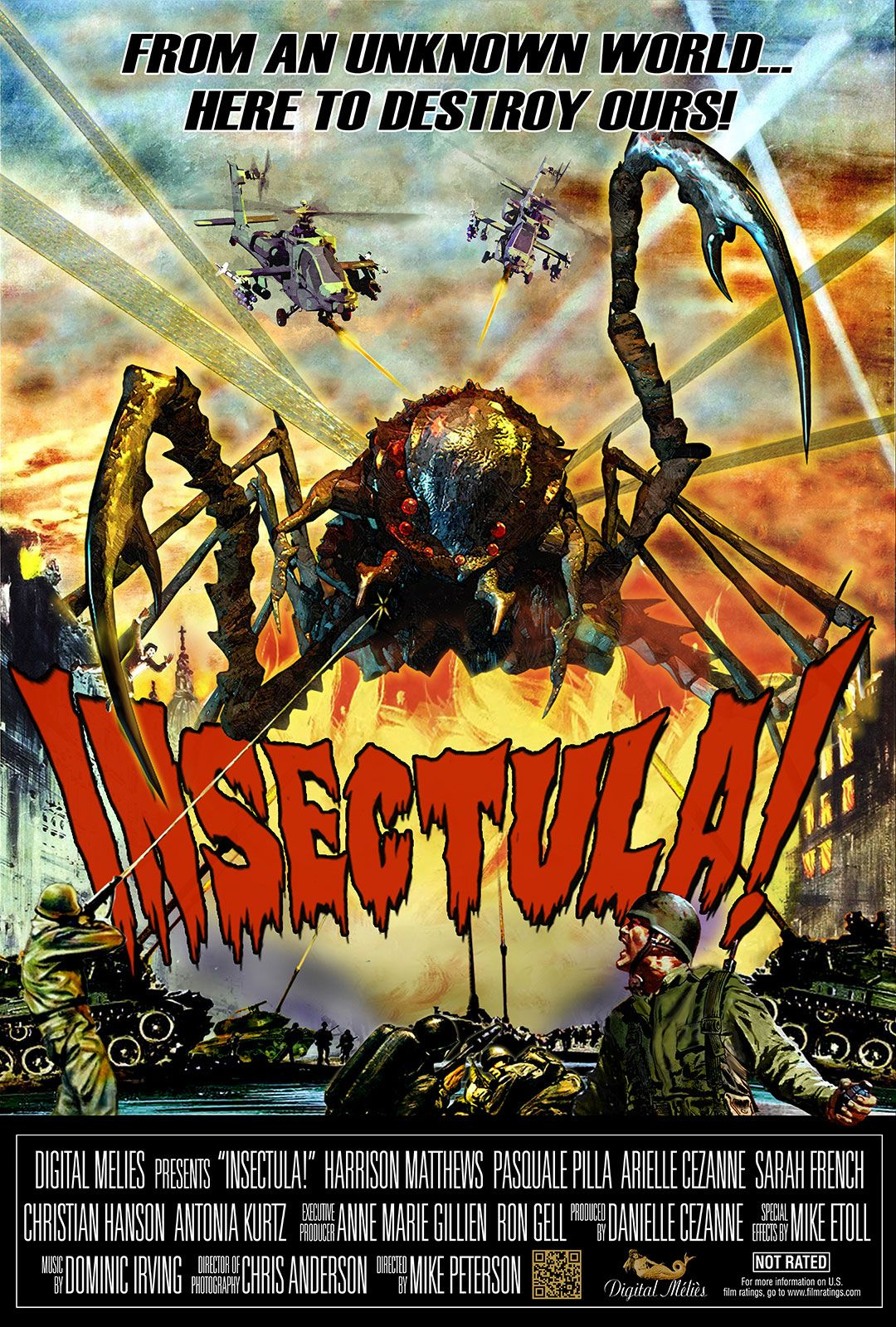 Insectula low budget retro horror from michael peterson