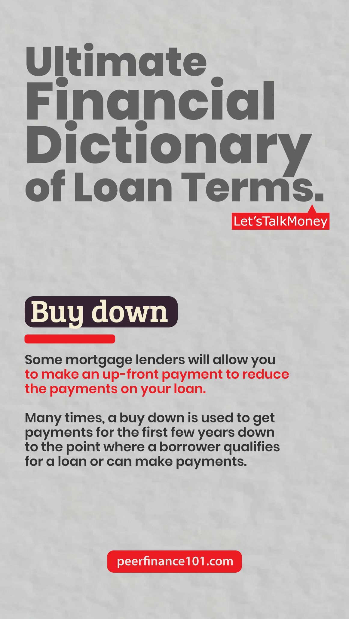 Ultimate Financial Dictionary Of Loan Terms In 2020 Personal Finance Blogs Financial Peer To Peer Lending