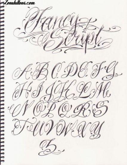20 Letras de tatuajes cursivas abecedario