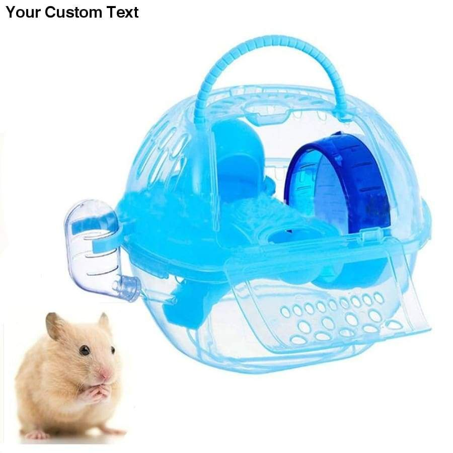 Portable Plastic Mini Hamster Cage Mice Nest Travel Small Animal