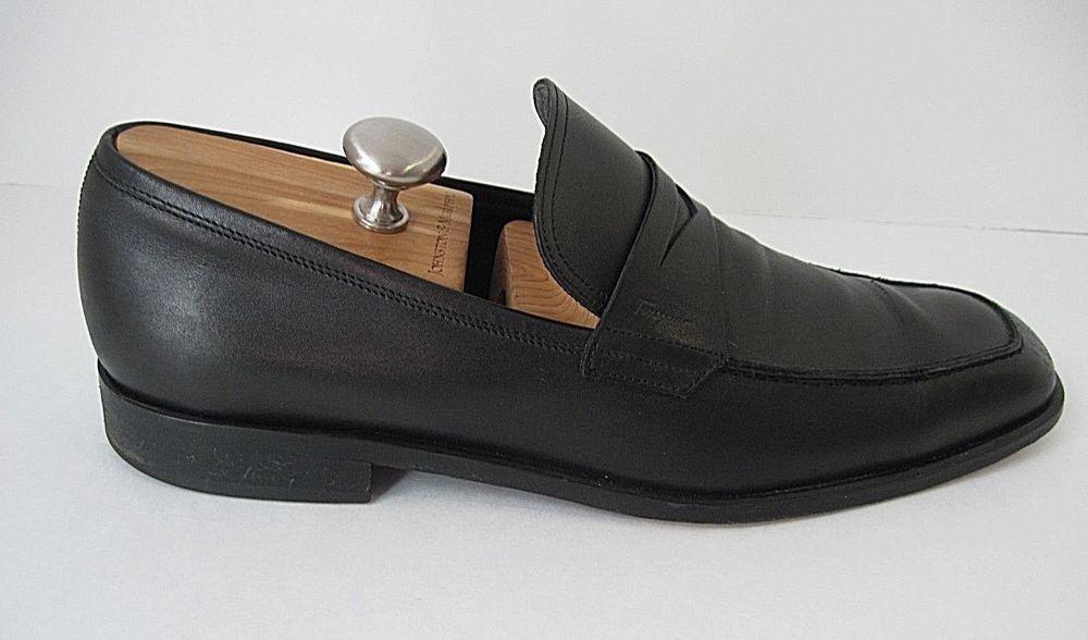 bf923c8d38c Salvatore Ferragamo Black Leather Penny Loafer Mens Dress Shoe Moc Size 11  1 2D  SalvatoreFerragamo  LoafersSlipOns