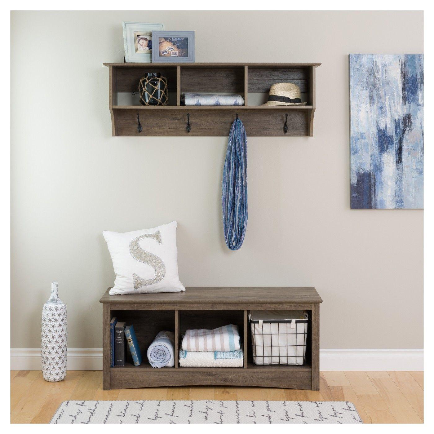 Excellent Douglas 48 Hanging Entryway Shelf Drifted Gray Prepac Evergreenethics Interior Chair Design Evergreenethicsorg