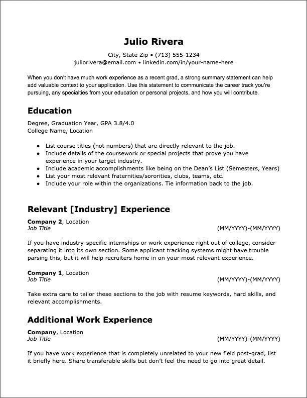 20 ATSFriendly Resume Templates Jobscan Blog Resume
