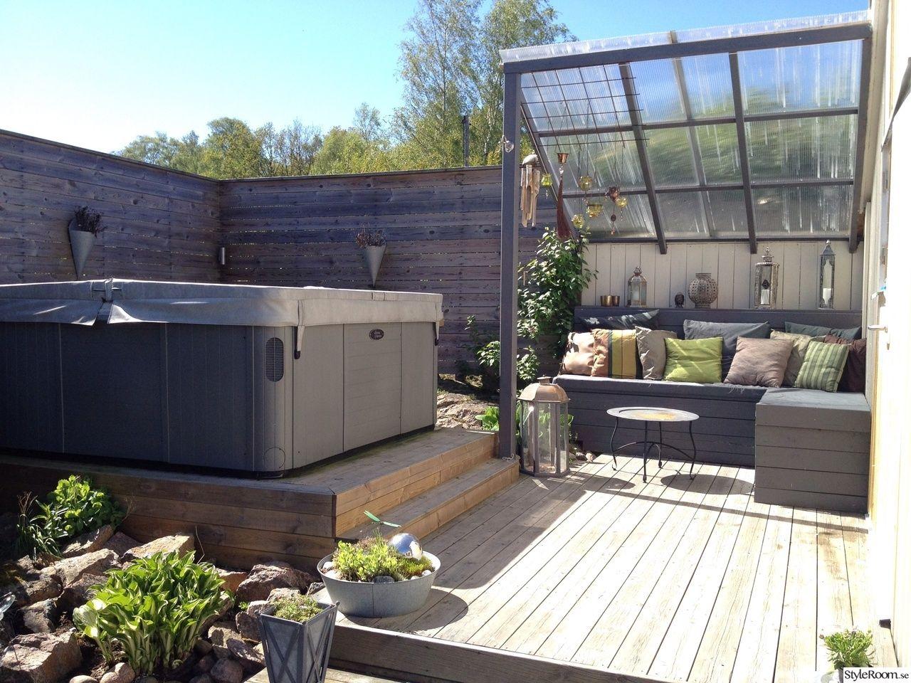Bra jacuzzi utomhus,trädgård   Outdoor spaces i 2019   Altaner ute DV-36