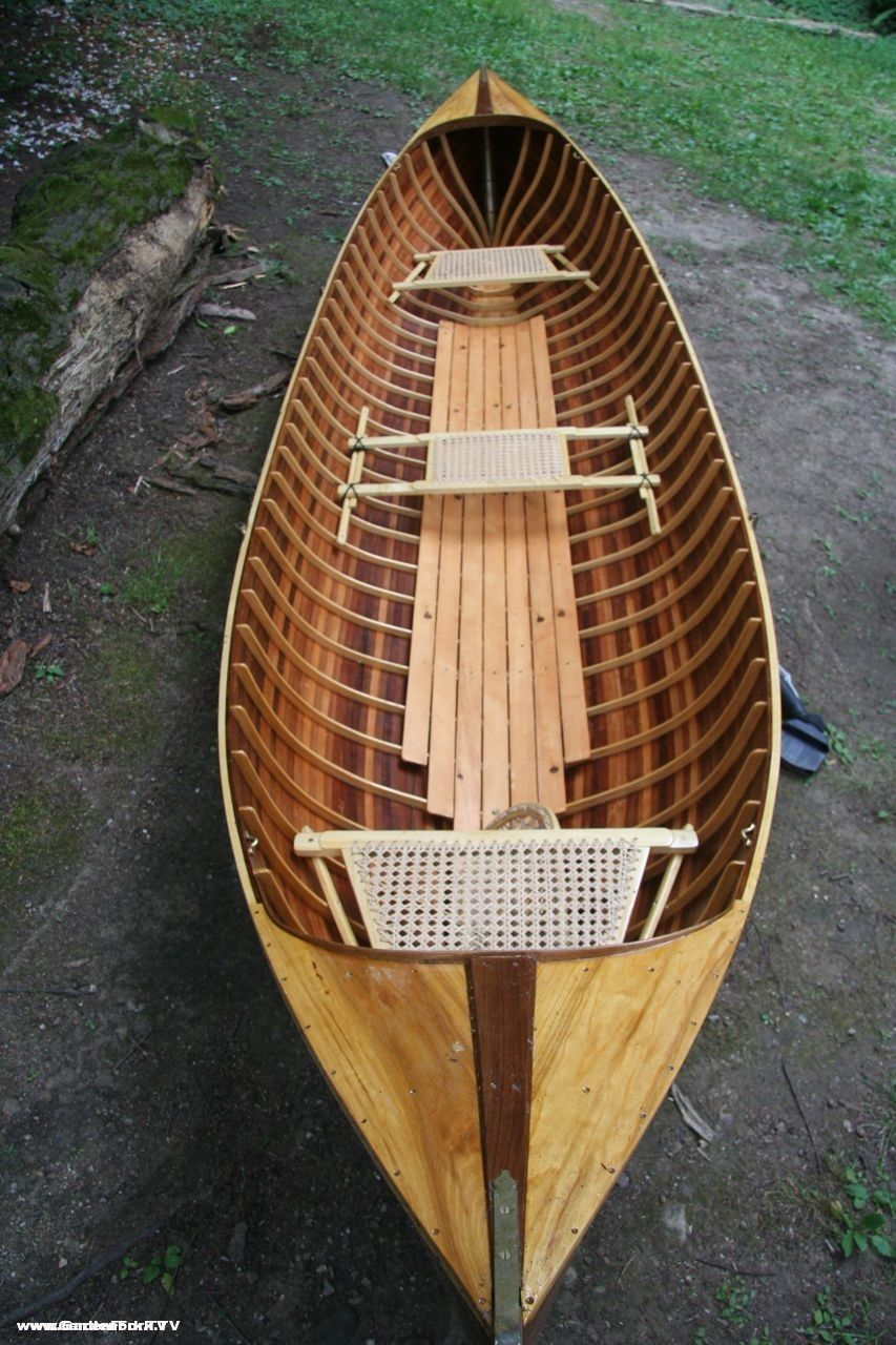 adirondack guide boat handmade from wooden boat plans okeydokey