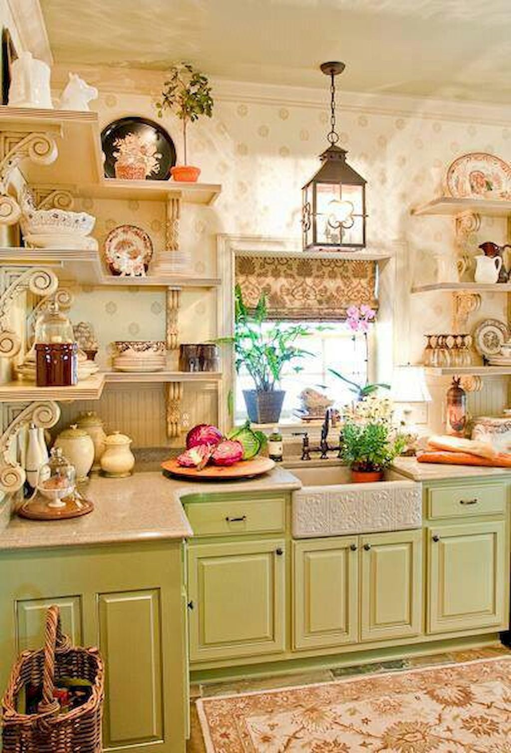 Modern french country kitchen decorating ideas (52 | Modern french ...