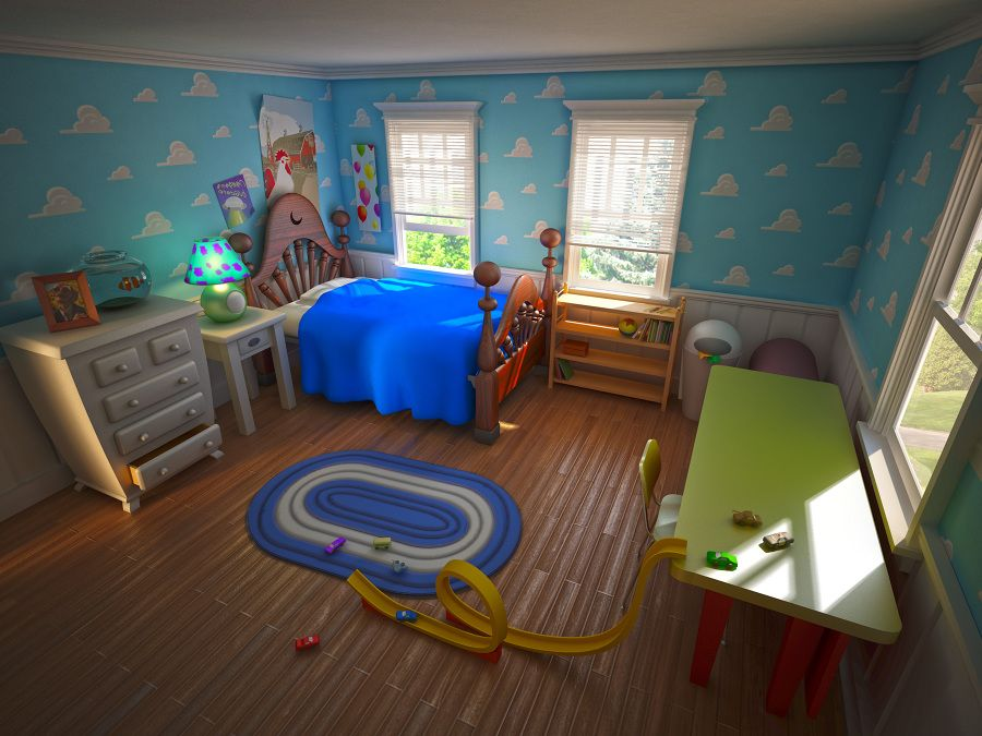 Pixar Room 3ds Max Vray Render Of The Room From Toy