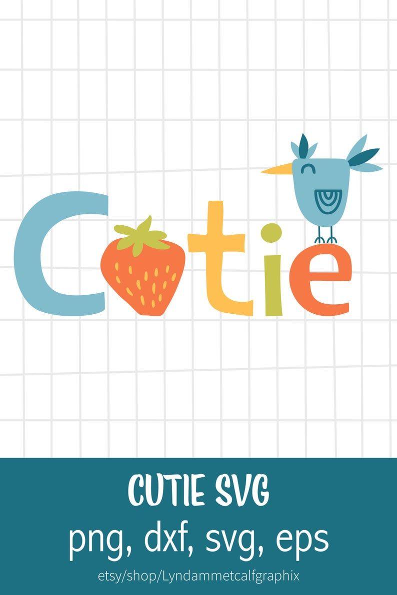 Download Cutie SVG, Strawberry Svg, Bird svg File for Cricut, Kids ...